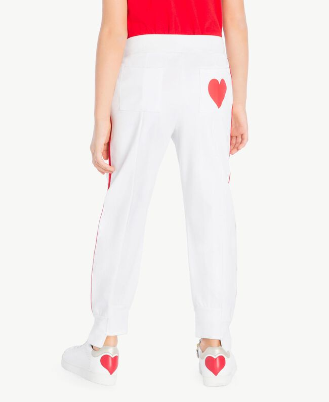 "Jogging trousers Two-tone ""Papyrus"" White / Pomegranate Red Child GS82KC-04"