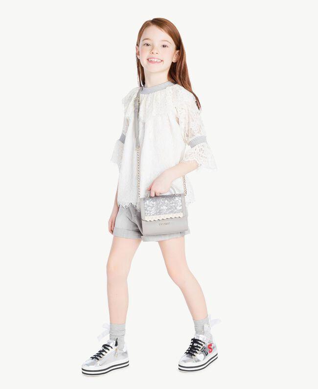 Lace blouse Pale Cream Child GS82UR-05