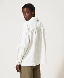 Blouson avec grandes poches Crème fouettée Femme 211TT2077-04