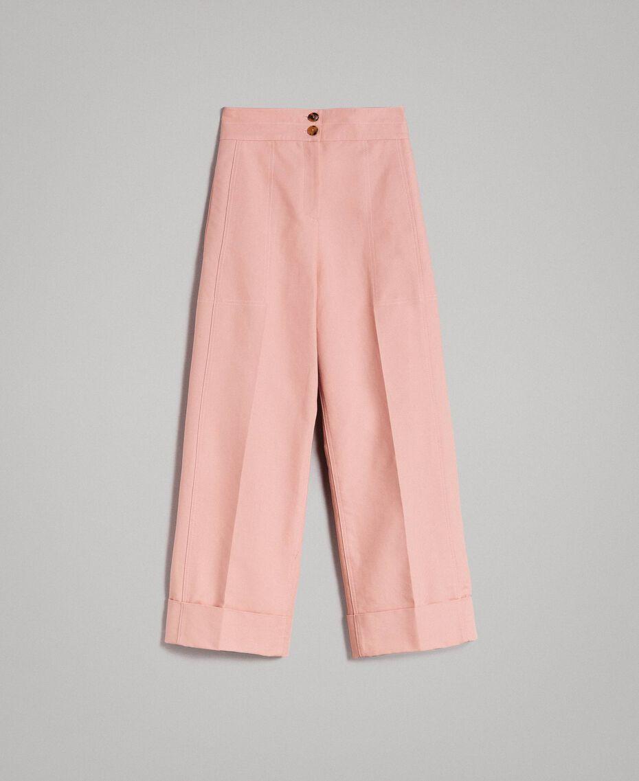 Pantalon en coton technique Brun Moyen Femme 191TP2181-0S