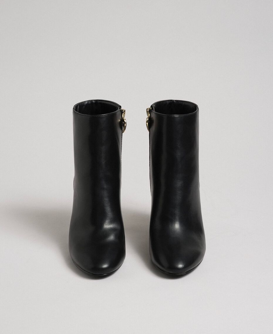 Faux leather ankle boots Black Woman 192MCT030-05