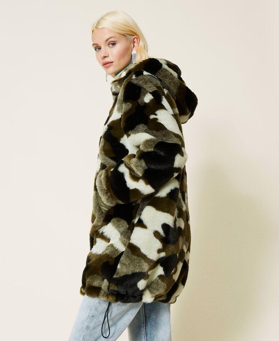 Piumino reversibile camouflage Jacquard Camouflage Donna 212AP2021-03