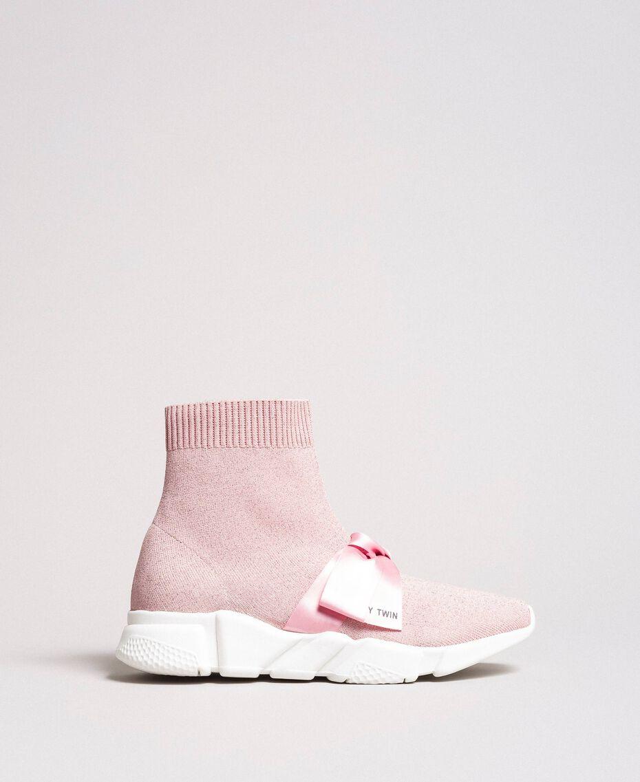 "Laufschuh mit Satinschleife ""Surreal Pink"" Frau 191MCP102-02"