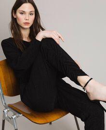 Combinaison en lurex avec manches kimono Noir Femme 191MP2020-05