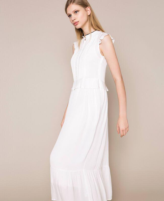 Crêpe de Chine long dress Ivory Woman 201TP2390-03