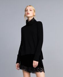 Wool and cashmere jumper Black Woman TA83AC-02