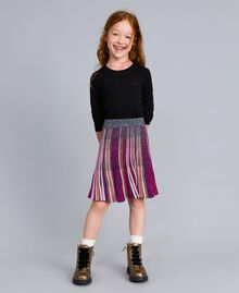 Gonna in lurex multicolor Multicolor Lurex Bambina GA83KQ-0S