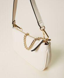 Bolso de hombro con cadena y logotipo Negro Mujer 212TB7050-05