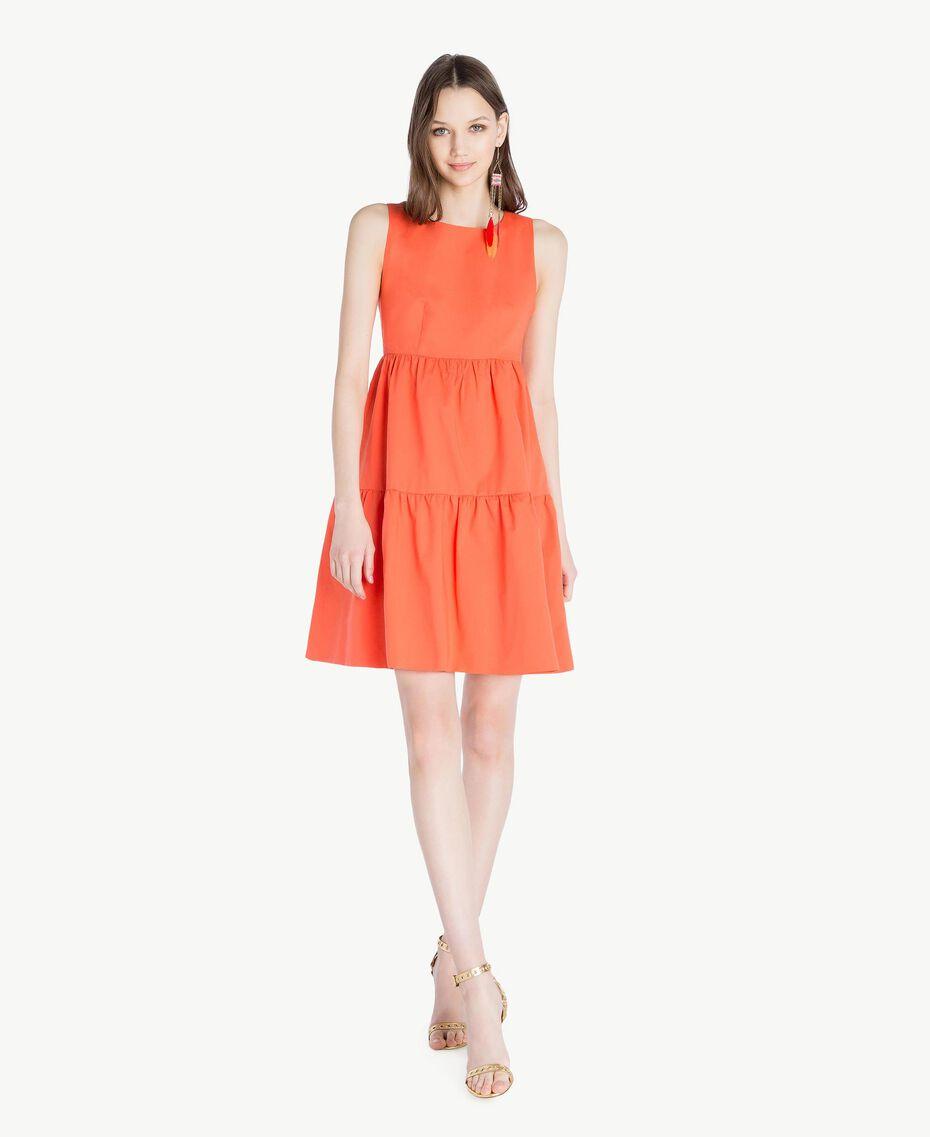 Poplin dress Orange Woman TS821F-01