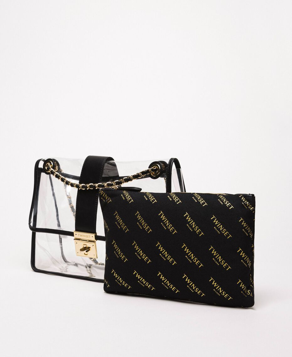 Large shoulder bag with pochette White Woman 201TA7181-02
