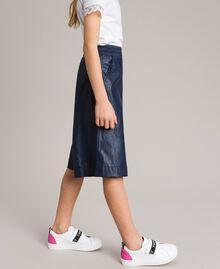Pantalon cropped en similicuir Indigo Enfant 191GJ2100-02