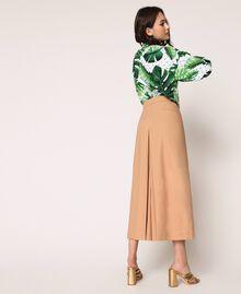 Pantalon cropped en popeline Marron Clair Femme 201ST202C-04