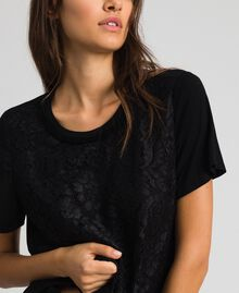 Блуза со вставкой из кружева макраме Черный женщина 192MP2492-04