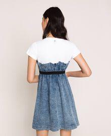 Denim dress with gathering Denim Blue Woman 201MT225A-03