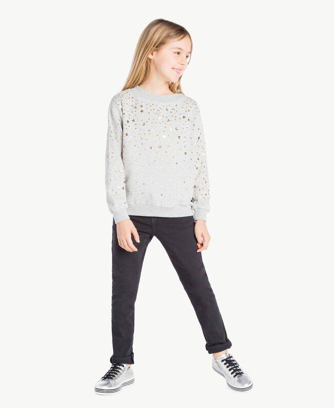 Sweat-shirt clous Gris clair chiné Enfant GS82G2-05
