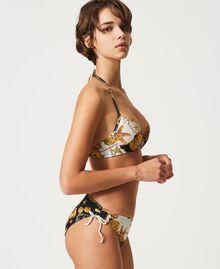 "Bikini bottom with print ""Ivory"" White Small Shell Print Woman 211LMM799-02"
