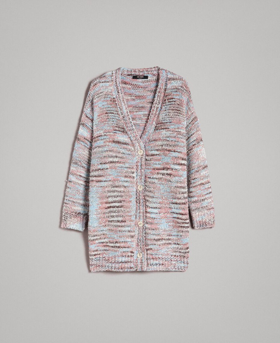"Cardigan multicolore avec lurex Multicolore Lurex ""Couleur Pastel"" Femme 191MP3181-0S"