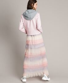 Pleated flounced long skirt Muticolour Tulle Woman 191MP2232-04