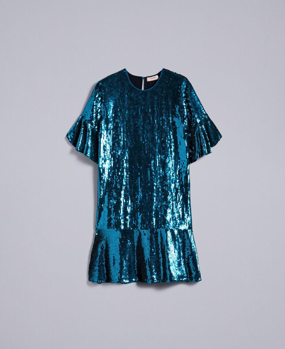 Sequin dress Octane Blue Woman TA82DC-0S