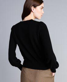 Pull boxy en laine et cachemire Noir Femme TA83AD-03