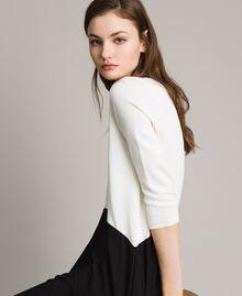 Robe bicolore asymétrique Bicolore Blanc Neige/ Noir Femme 191TP3263-05