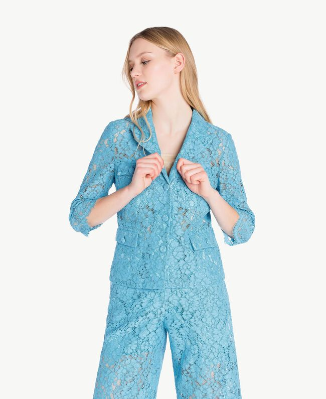 Lace jacket Oriental Blue Woman PS82XH-01