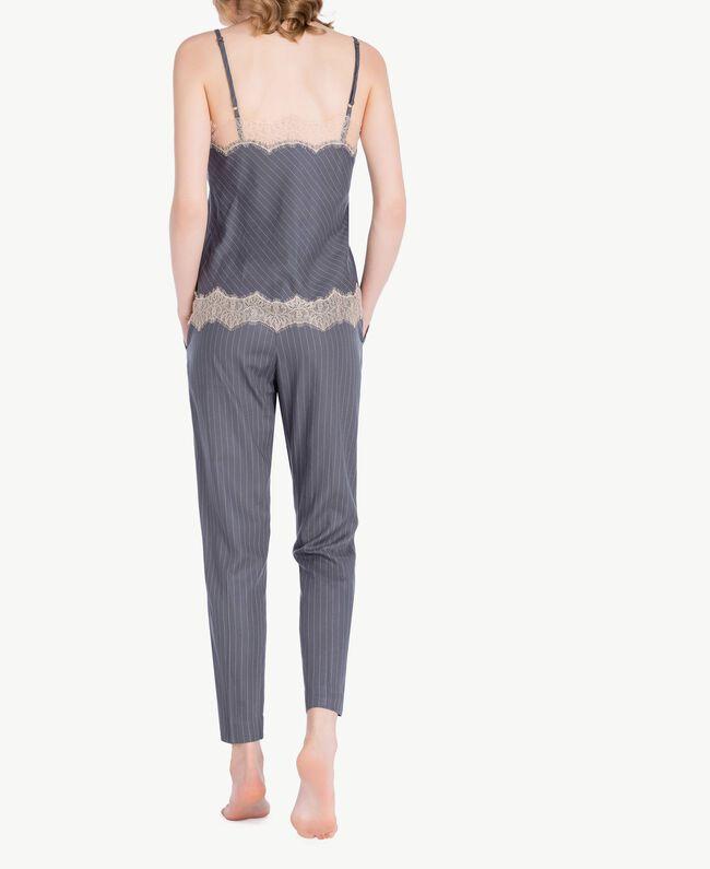 Pantalon rayures Gris Rayé Femelle LA7GJJ-04
