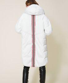 Long puffer jacket with drawstring Ivory Woman 202LI2AAA-04