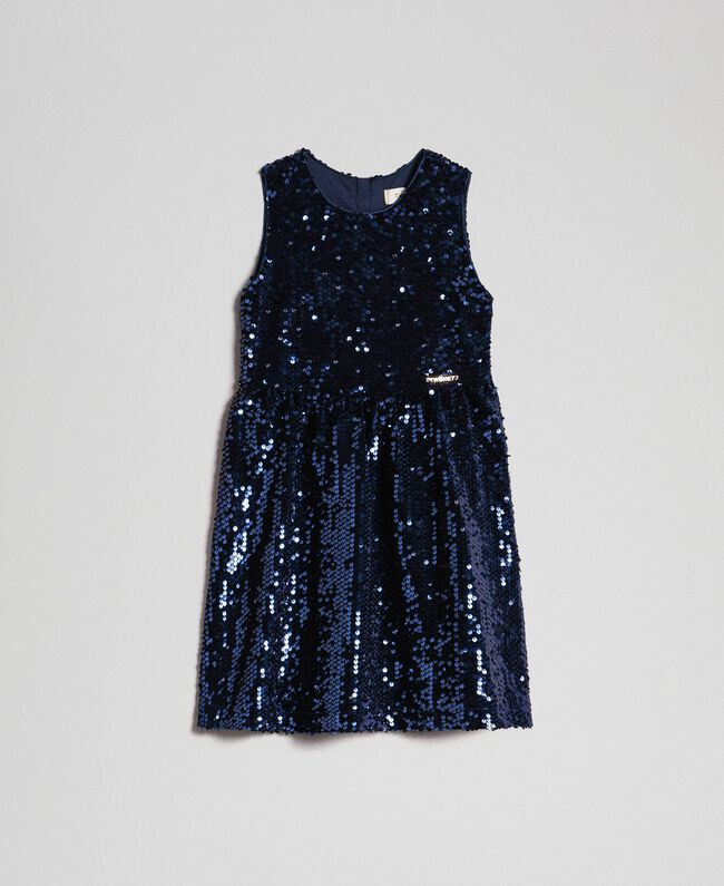 Robe en velours avec sequins Blue Night Enfant 192GB2090-01