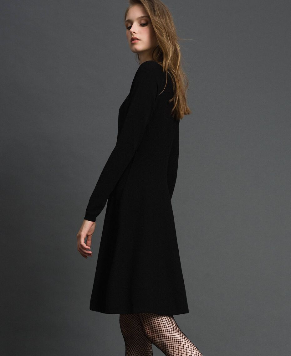 Knitted full dress Black Woman 192TT3281-02