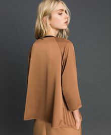 "Pleated blouse with three-quarter sleeves ""Sequoia"" Beige Woman 192ST2090-03"
