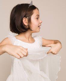 Plumetis tulle dress Pale Cream Child 201GJ2QD0-06