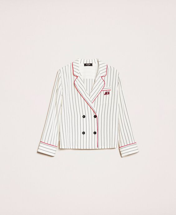 Striped crêpe de Chine shirt
