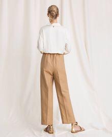 """Linen blend jumpsuit """"Dune"""" Beige Woman 201TP2253-03"""