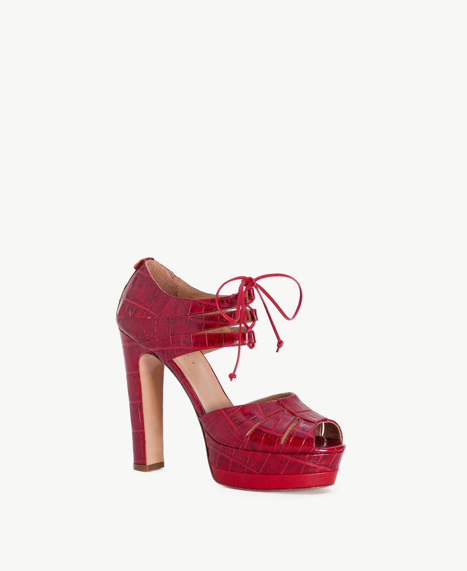 TWINSET Sandales croco ruby Femelle CA7PCG-02