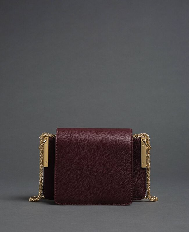 Small Bea leather shoulder bag Beet Red Woman 192TA7021-04