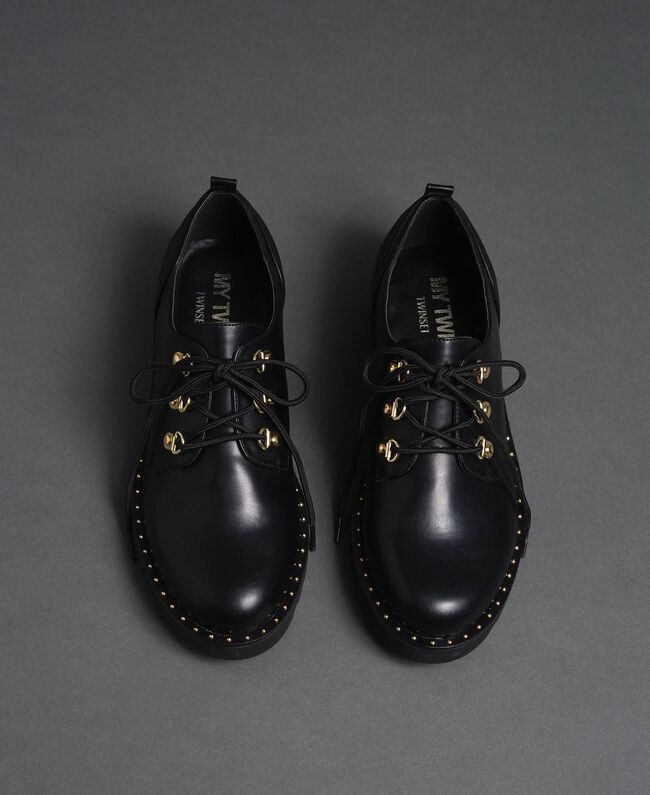 Туфли на шнуровке Черный женщина 192MCP098-04