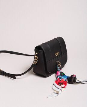 dc18ef0d12f5 Faux leather shoulder bag with scarf ...