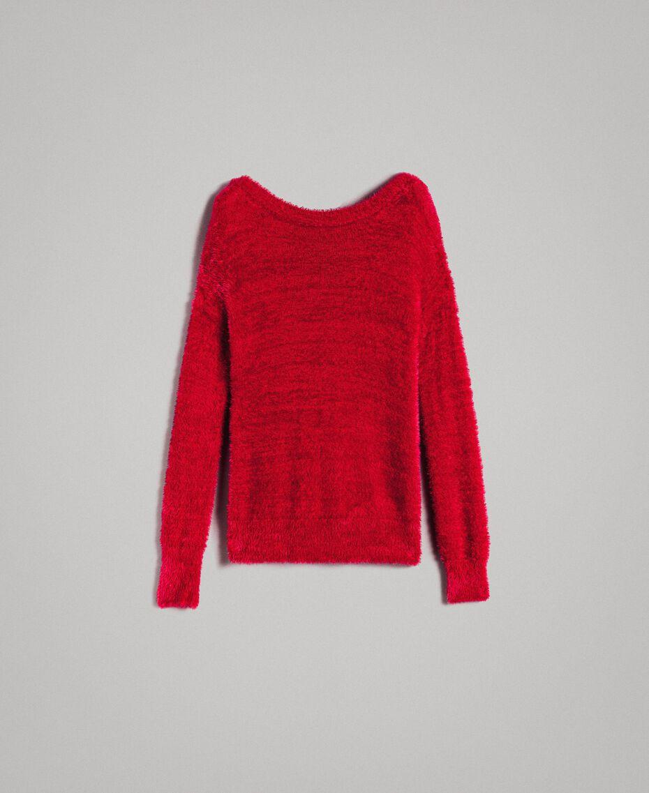 Fur stitch jumper Black Woman 191TP3421-0S