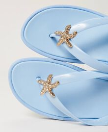 "Thong sandals with jewel detail ""Sky"" Blue Woman 211LMPZPP-04"