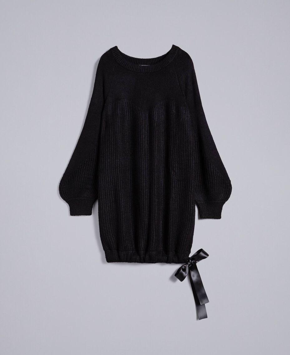 Mini-robe en mohair mélangé Noir Femme SA83BB-0S