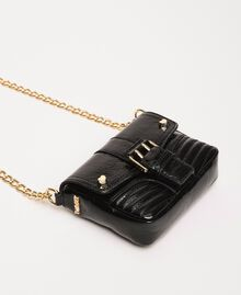 Small Rebel leather shoulder bag Black Woman 201TO823T-02