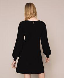 Robe décorée de boutons en strass Noir Femme 201TP3101-03