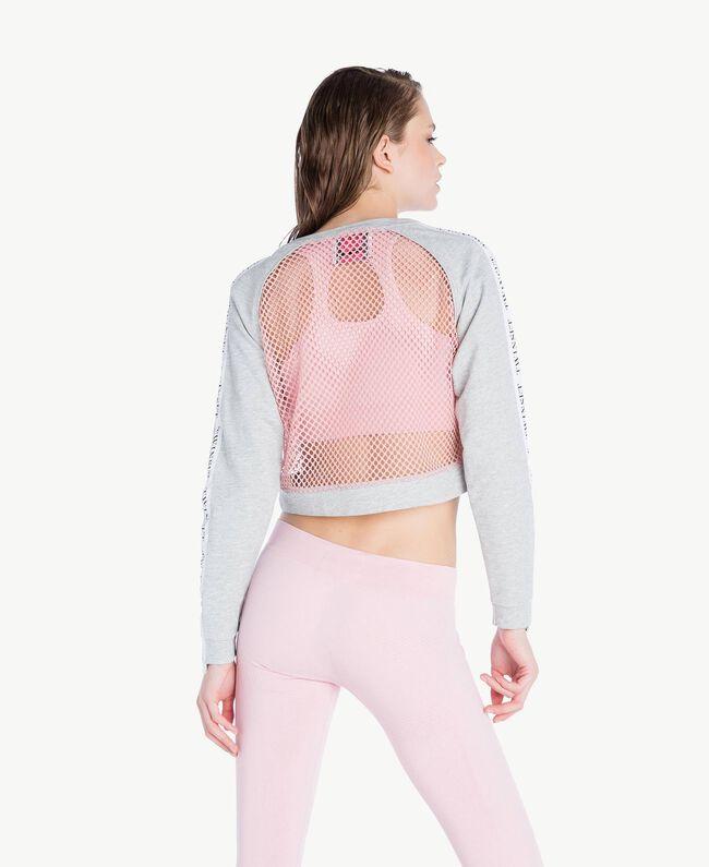 Mesh sweatshirt Two-tone Mid Melange Grey / Pinkie Sugar Woman LS87AA-04