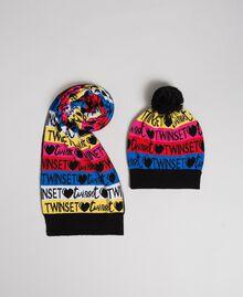 Шарф и шапочка из жаккардового трикотажа Разноцветный логотип Pебенок 999GJ4016-01