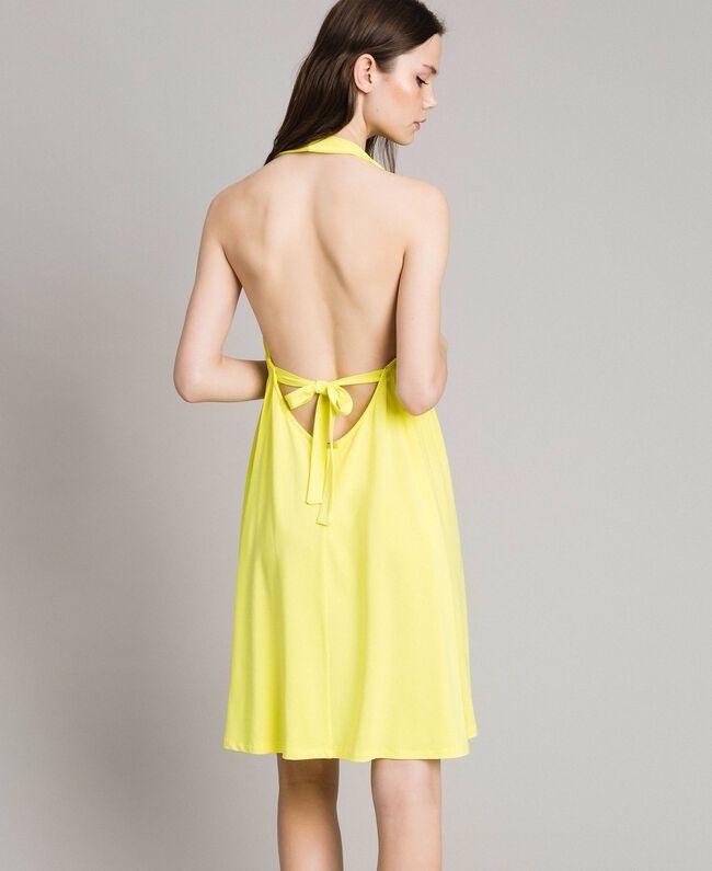 """Kleid aus Kreppjersey mit Zierring """"Lemon Juice"""" Gelb Frau 191LB22CC-03"""