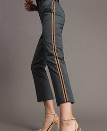 Pantalon en popeline à coupe cigarette Sous-bois Femme 191ST2040-02