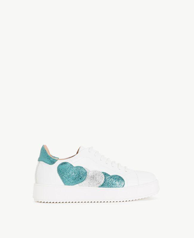 TWINSET Sneaker mit Herzen Weiß Frau CS8PNC-01