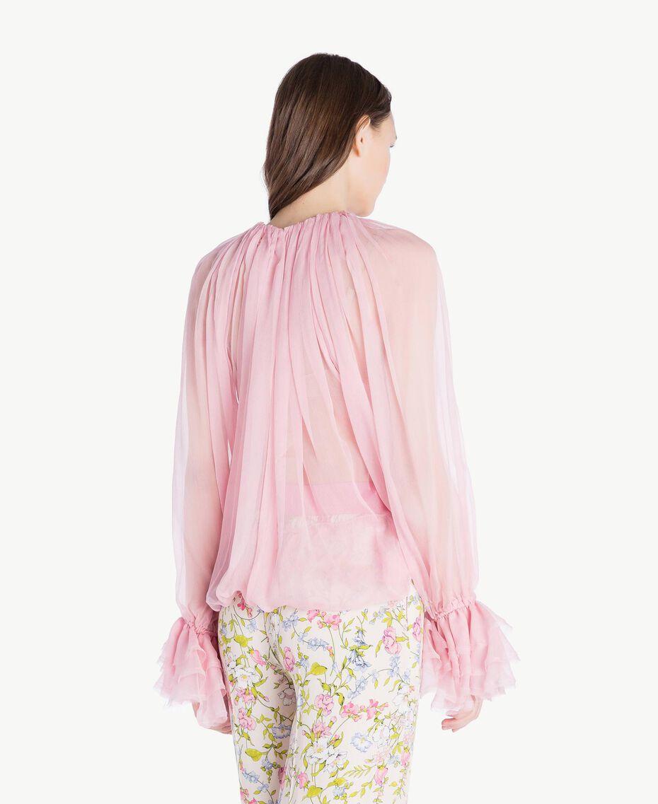 Silk blouse Hydrangea Pink Woman PS8221-03