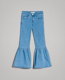 Bell-Bottom-Jeans Hellblauer Denim Kind 191GJ2590-01